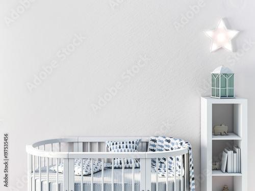 Fotografie, Obraz  Mockup wall in child room 3d rendering