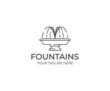 Water Jet Fountain Logo Templa...