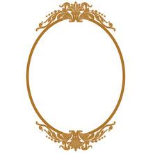 Golden Vintage Oval Graphical ...