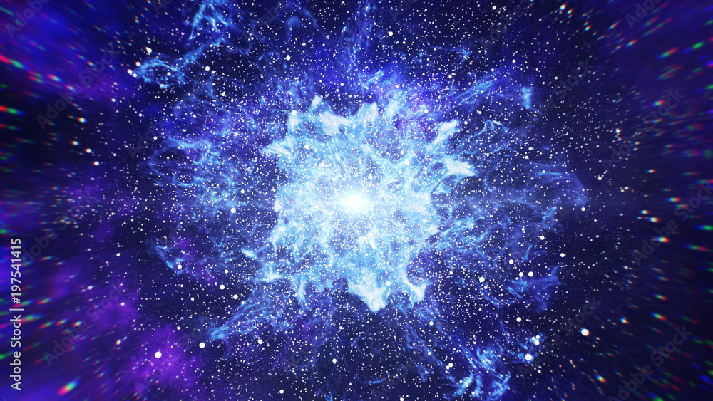 Fototapety, obrazy: Big Bang in Space, The Birth of the Universe 3d illustration