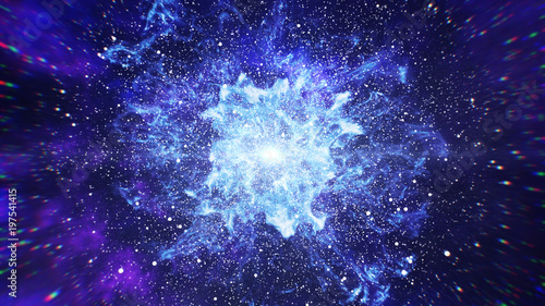 Carta da parati Big Bang in Space, The Birth of the Universe 3d illustration