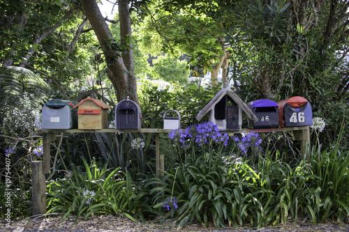 Fototapeta Postbox on island tropical leave easy living