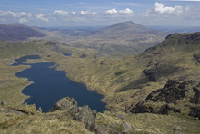 View Of A Lake From Snowdon