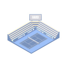 Tennis Court, Synthetic Hard C...
