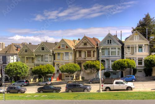 Zdjęcie XXL Malowane Panie, słynny wiktoriański domów w Alamo Park, San Francisco