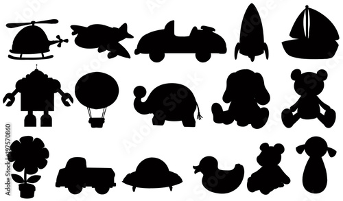 Photo Stands Kids Silhouette set of toys