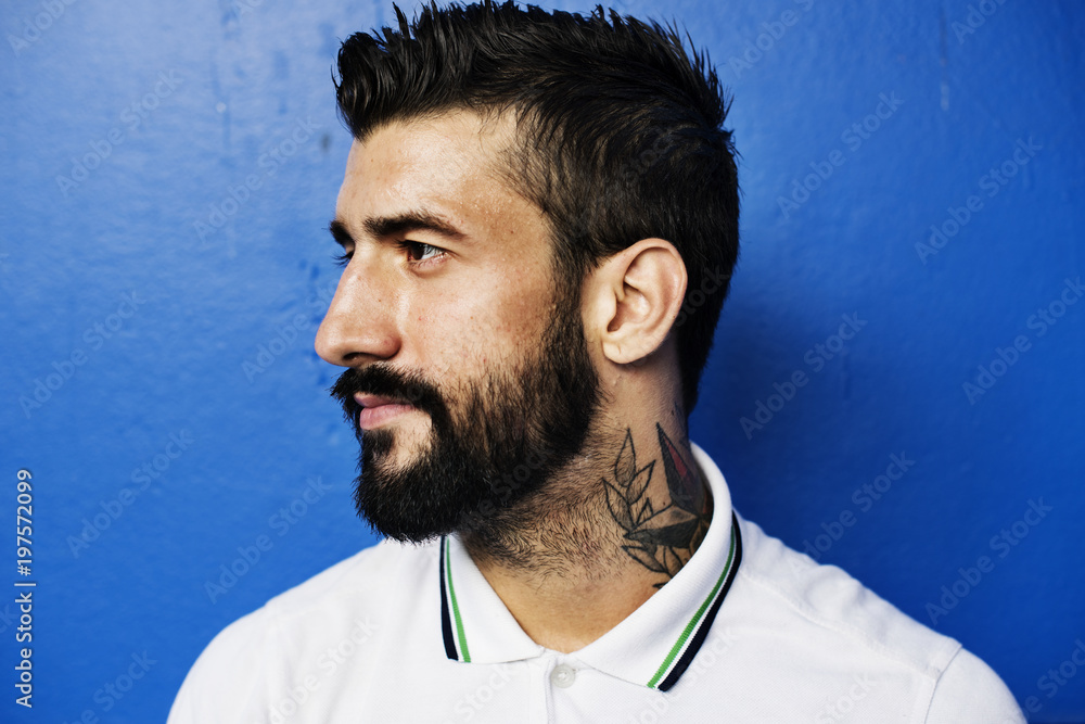 Fototapety, obrazy: Portrait of caucasian man isolated on background