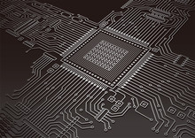 基盤・電子回路のイメージイラスト