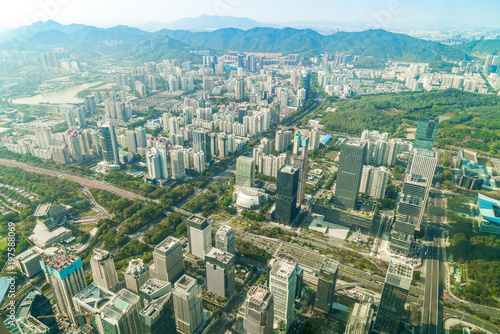 Foto op Aluminium Toronto A bird's eye view of the urban architectural landscape and the urban skyline in Shenzhen