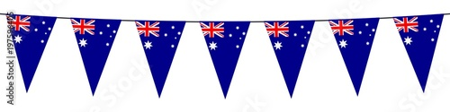 Banner. Garlands, pennants. Australia Canvas Print