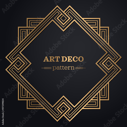 Photo  gatsby art deco background