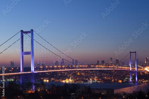 Istanbul Bosphorus Bridge at night Wallpaper Mural