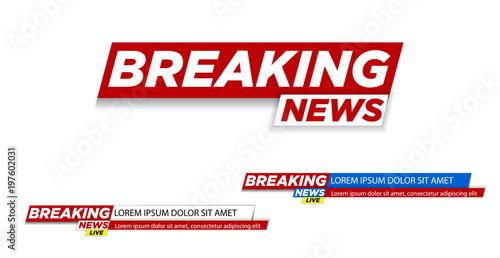 Cuadros en Lienzo Breaking news