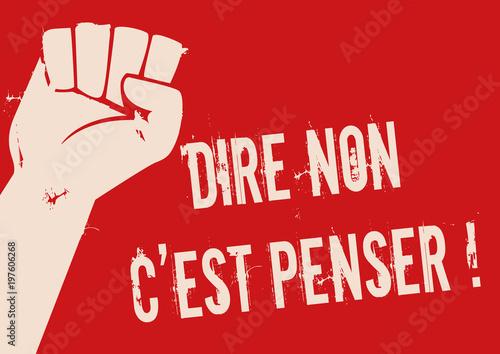Fotografia mai 68 - liberté - manifestation - slogan - révolte - révolution - grève - étudi