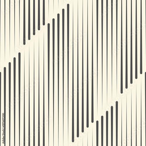 Materiał do szycia Wzór bez szwu linii pionowej. Wektor monochromatyczne tła. Geometryczna ozdoba pasiasty
