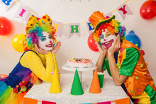 Clowns Are A Boy And A Girl In...