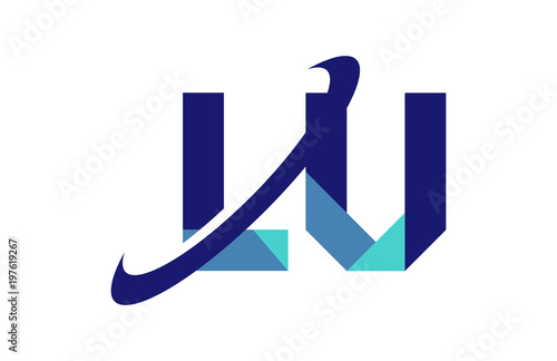 Lu Ellipse Swoosh Ribbon Letter Logo Buy This Stock Vector And