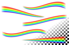 Rainbows Curved Lines On White Tansparent