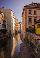 Fototapeta na wymiar Prague old town, sunny morning in the winter, Czech Republic