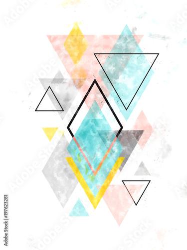 minimalistyczna-skandynawska-abstrakcjonistyczna-geometryczna-sztuka-w-akwareli