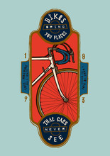 Vintage Sports Bicycle Print - Bikes Bring You Places That Cars Never See