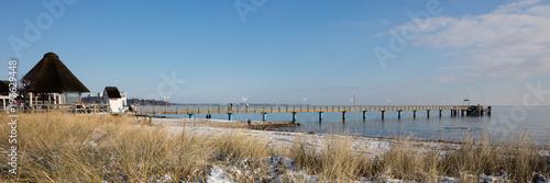Fotografie, Obraz  Seebrücke, Strand, Haffkrug, Scharbeutz, Lübecker Bucht, Schleswig-Holstein, Deu