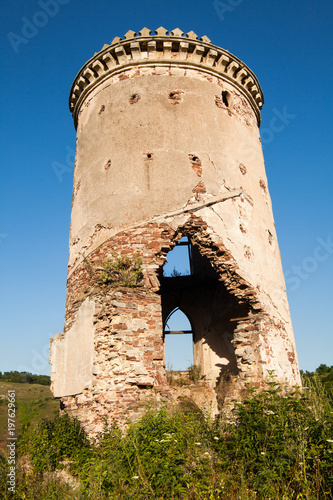 Foto op Aluminium Rudnes The ruins of an old castle in the village of Chervonograd. Ukraine