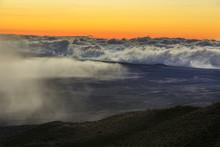 Sunset At The Summit Of Mauna ...