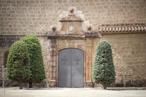 Photo Church, facade religious building, Iglesia Santa Maria,Piera,province Barcelona,Catalonia,Spain