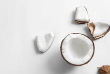 Ripe Coconut On White Backgrou...