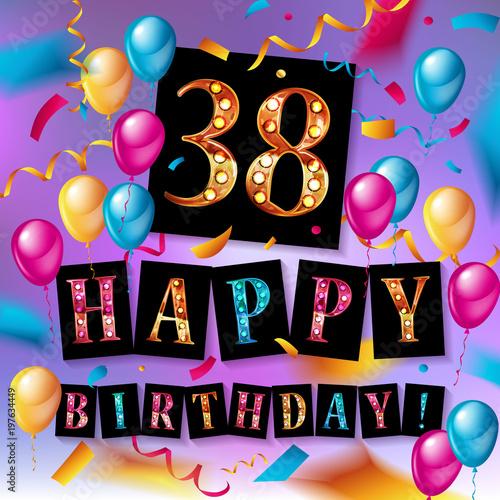 Papel de parede 38 years anniversary, happy birthday
