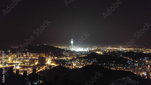 Mecca City And Clock Tower View From Jabal Nour In Saudi Arabia Buy This Stock Photo And Explore Similar Images At Adobe Stock Adobe Stock