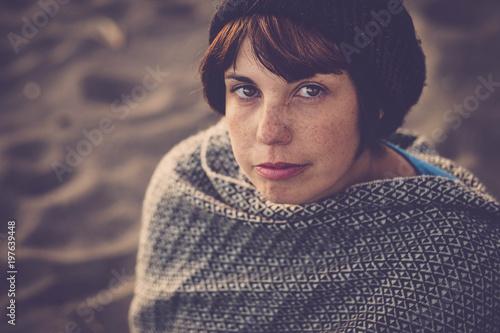 Fotografie, Obraz  portrait of a lady with freckles