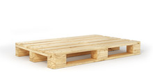 Stack Of Wood Pallets Isolated...