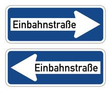 Einbahnstraße - Verkehrszeich...