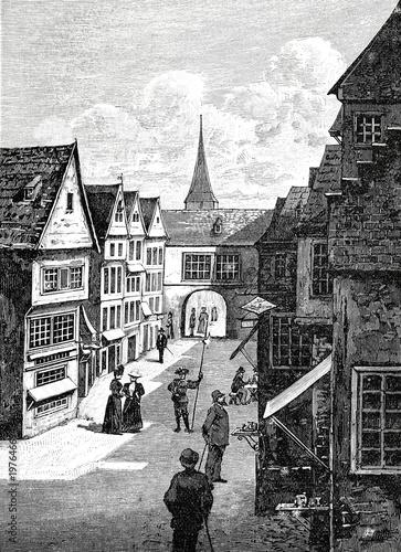 Deurstickers Antwerpen Straße in Antwerpen