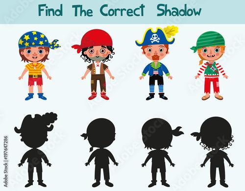 Fotografía  Find the correct shadow of pirates