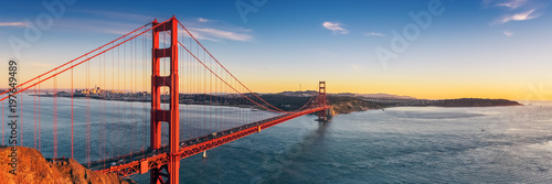 Spoed Foto op Canvas Amerikaanse Plekken Golden Gate bridge, San Francisco California