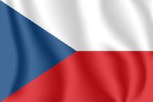 Flag Of Czech Republic. Realis...