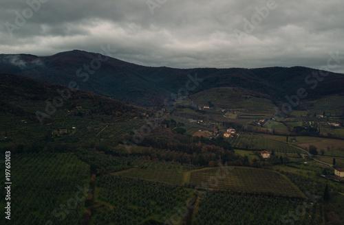 Keuken foto achterwand Zwart Landscape aerial
