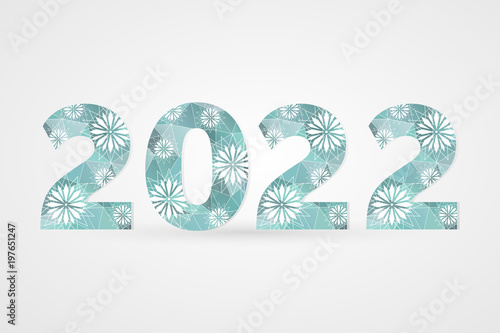2022 Happy New Year vector illustration Plakat