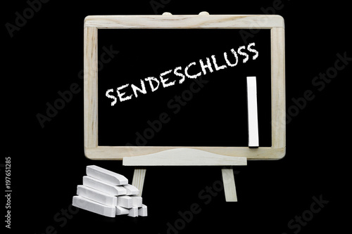 Sendeschluss Canvas Print