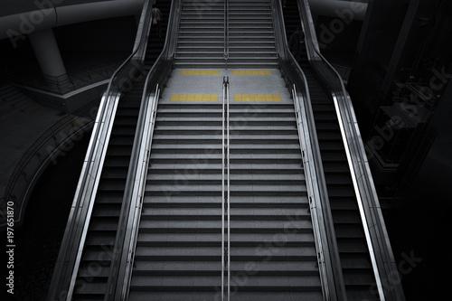 Poster Voies ferrées stairs and escalators