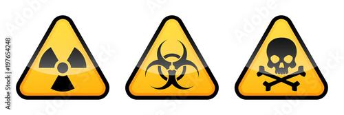 Obraz na plátne Warning vector signs