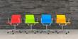 Leinwanddruck Bild - 3d render - business lounge