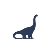 Dinosaur, Sauropod Vector Icon