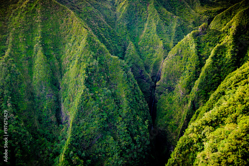 Montage in der Fensternische Gebirge Koolau Mountains on Oahu