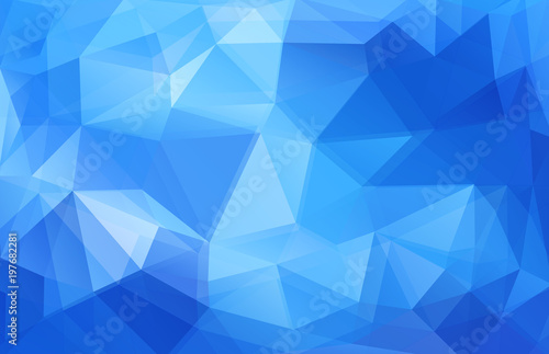 Triangle Horizontal blue banner. Vector background