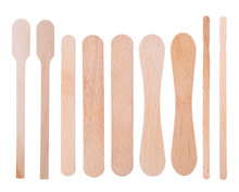Wooden Ice-cream Sticks Isolat...