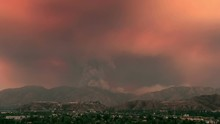 Time Lapse Of Massive Los Angeles Wildfire In 2016